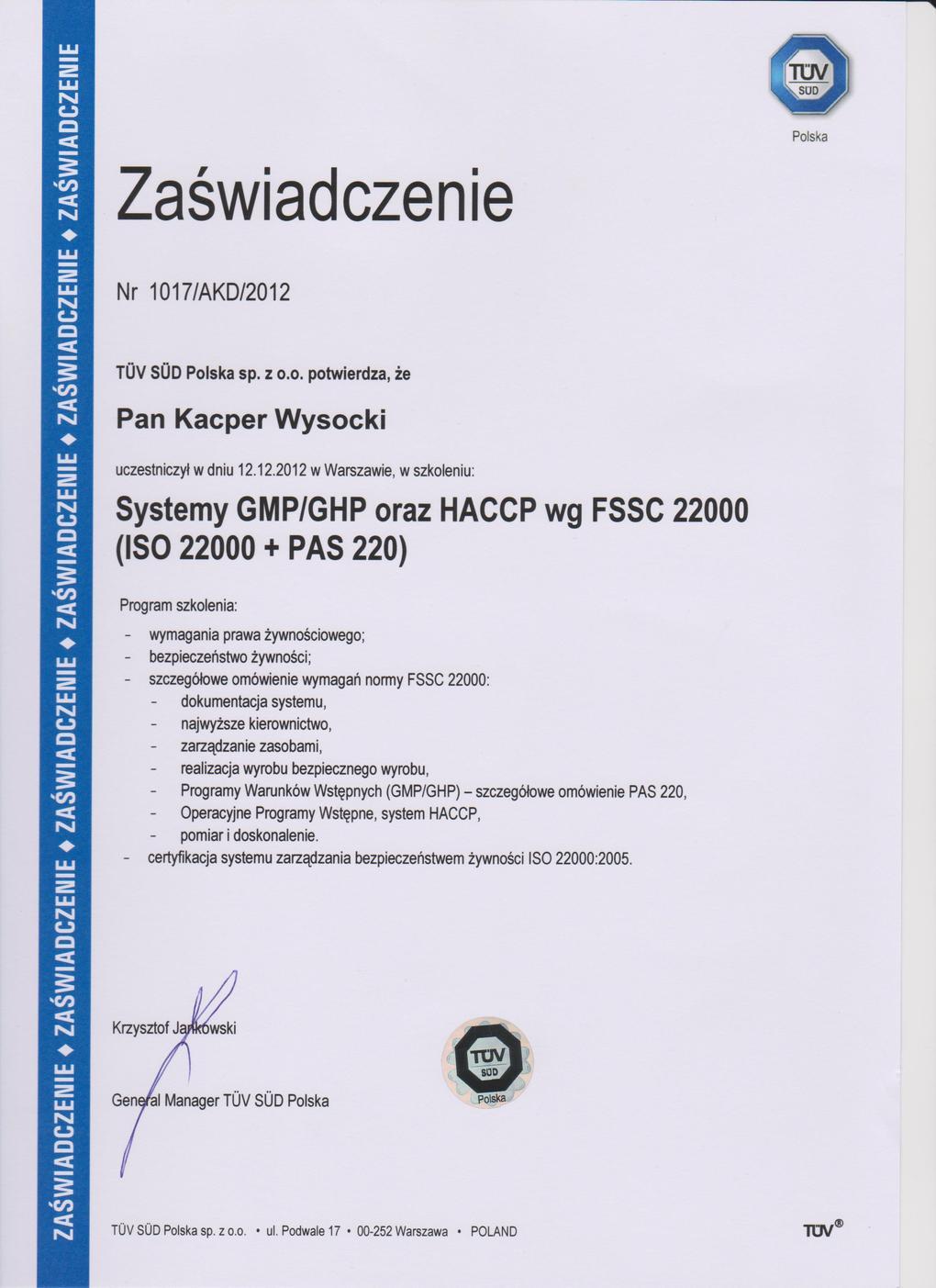 monitoring szkodników dla firm Białystok gmp,ghp,haccp